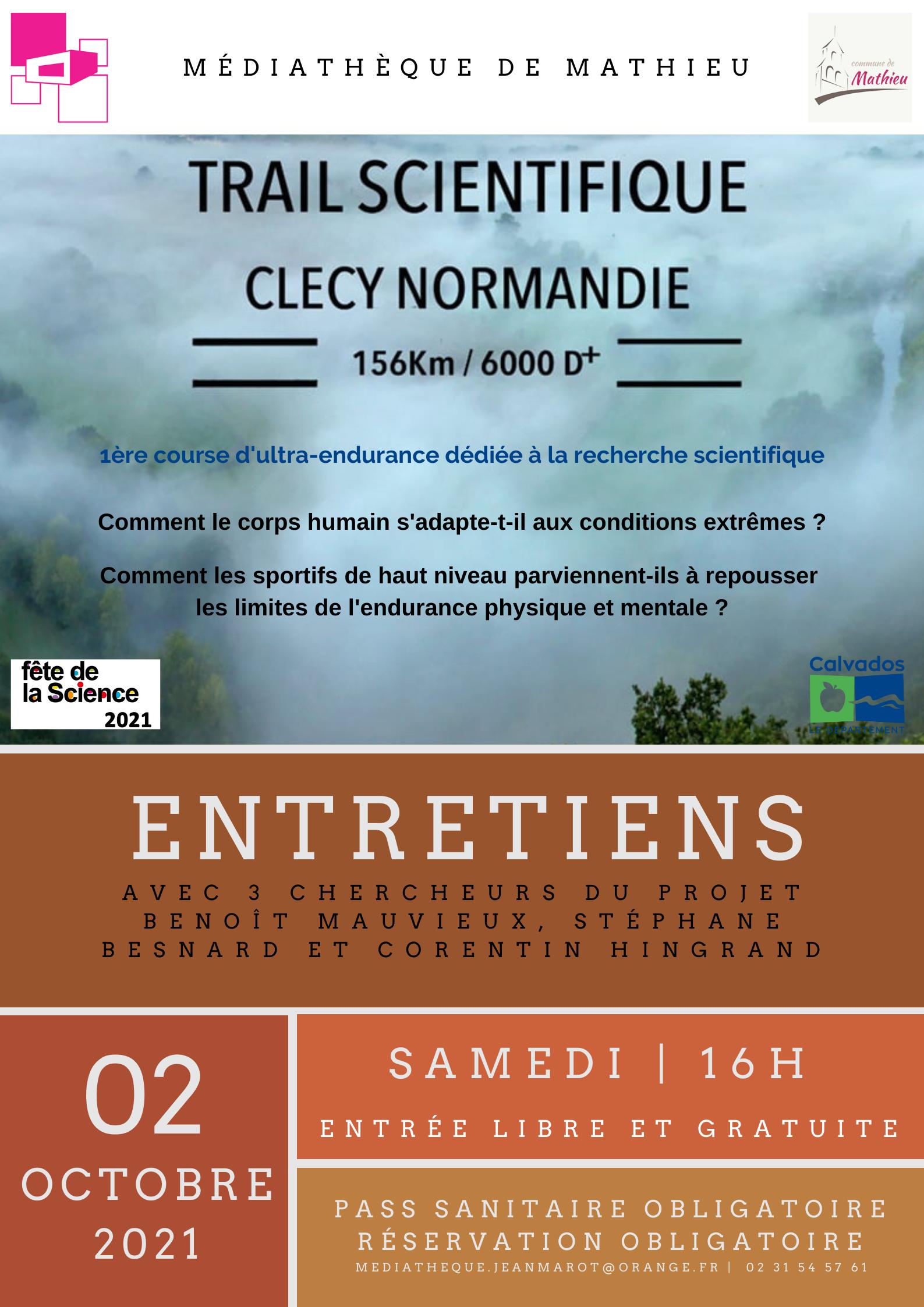 Fete de la Science 2021 : Le Trail Scientifique Clécy Normandie |